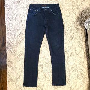 Nudie Jeans Grim Tim Dry Navy Dips Size 31